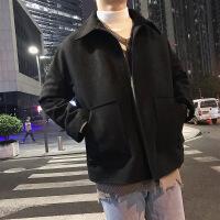 2018新款男士短款港风bf冬季男生外套韩版潮流学生毛呢秋季风衣男