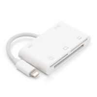 iphone相机套件苹果手机cf卡读卡器iPad air pro平板多功能TF/XD/M2/SD卡转 白色【支持CF/