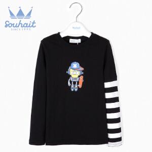 【3折价:56.7元】水孩儿souhait秋季新款男童印花机器人T恤AQAQL554