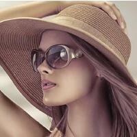 时尚优雅前卫大框太阳镜眼镜 新款偏光镜 女士墨镜修脸细框蛤蟆镜 支持礼品卡