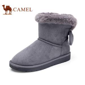 骆驼牌女雪地靴 2017冬季新款细致舒适雪地靴防滑时尚百搭女靴