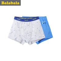 巴拉巴拉童装男童内裤2017新款中大童平角裤儿童平角内裤男 2条装