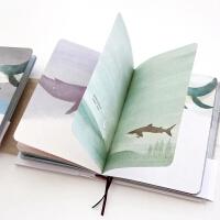创意日记本记事本独自穿行彩页笔记本 插画绘本