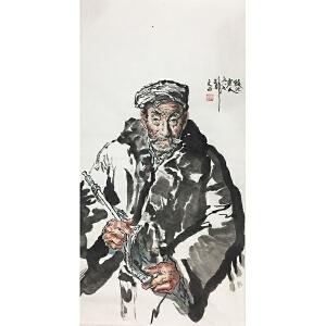 刘文西《老汉》著名画家
