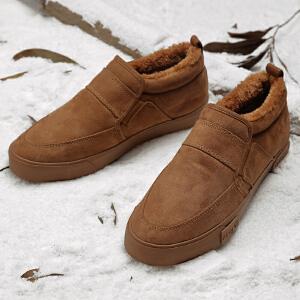2017新款短靴男加绒棉鞋男保暖男鞋学生防滑雪地靴男冬季靴子男