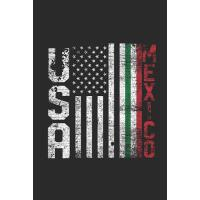 【预订】USA Mexico Flag: Dotted Bullet Grid Notebook / Journal