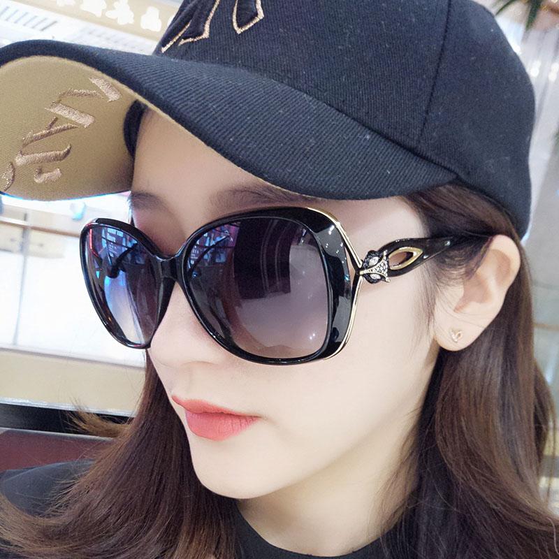 高清偏光太阳镜女大框圆脸开车司机太阳眼镜女