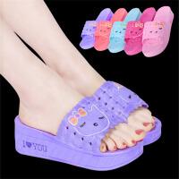 拖鞋女夏韩版厚底 家居浴室凉拖鞋洗澡夏季居家室内家用可爱