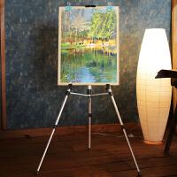 加厚折叠写生画架4K绘画素描画板架支架式铝合金画板画架套装素描套装初学者油画架三角架美术素描画架
