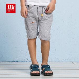 季季乐男童针织裤2017夏季新款五分裤中小儿童时尚男孩短裤BXK63122