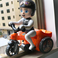 儿童男女宝益智玩具特技骑三轮车电动音乐旋转灯光万向翻斗