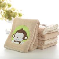 御目 毛毯 儿童珊瑚绒小毛毯空调毯盖毯双层学生单人薄午睡毯办公室毯子