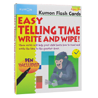 Kumon Flash Cards Easy Telling Time Write And Wipe Ages 2+