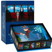 英文原版 吉卜力工作室 100张经典动画明信片 宫崎骏 电影周边 礼品书 Studio Ghibli: 100 Col