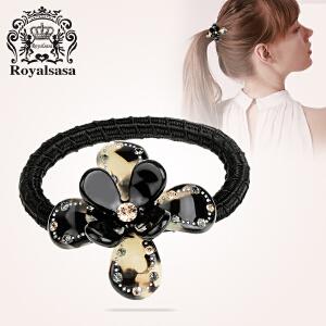 皇家莎莎发圈 时尚豹纹花朵女士马尾皮筋发绳盘发饰品 HFS610016