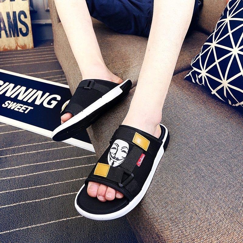 2019男夏季拖鞋潮流室内外个性凉拖轻质防滑凉鞋一字拖百搭沙滩鞋