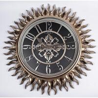 欧式挂钟客厅钟表静音时钟 时尚创意家用壁钟超大号挂表复古奢华 暗