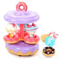 过家家甜甜圈玩具婴儿益智引导学爬电动音乐旋转木马万向车女孩