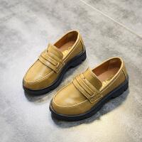 2018春秋季新款黑色男童皮鞋休闲鞋英伦风复古学生单鞋儿童演出鞋
