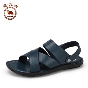 骆驼牌男鞋 夏季新款凉鞋 日常休闲沙滩鞋舒适透气凉