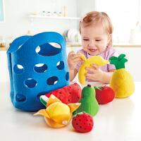 Hape儿童过家家玩具厨房玩具―萌宝水果篮18M+