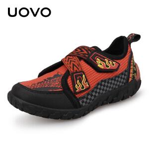 UOVO儿童运动鞋男童运动鞋2019春秋季新款网鞋男透气网面夏季小童运动鞋 飓风音速P