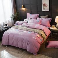 四件套全棉纯棉加厚磨毛床上用品床单被套北欧ins风1.5米1.8m加大2.0床