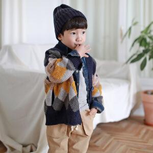 小童装时尚毛衣开衫外套毛线外套中小童秋冬款童装
