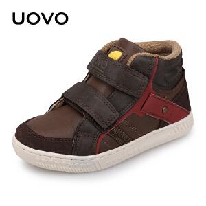 【每满100立减50】 UOVO新款秋季男童时尚休闲鞋魔术贴儿童运动鞋男童运动鞋 巴塞尔