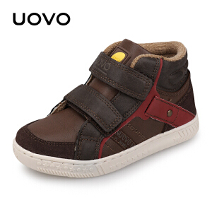 UOVO新款秋季男童时尚休闲鞋魔术贴儿童运动鞋男童运动鞋 巴塞尔