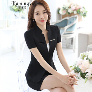 卡茗语 2017新款夏季短袖小西服套裙两件套女士正装OL韩版半裙