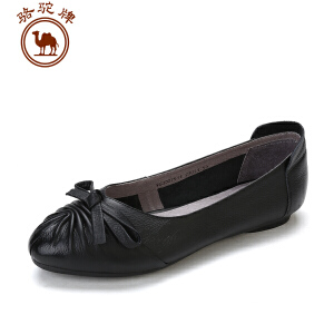 骆驼牌女鞋 新款舒适套脚鞋女士浅口平跟女鞋子日常休闲单鞋