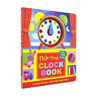Tick-Tock Clock Book 时钟书 儿童英语绘本正版图书 幼儿玩具 纸板书 培养3-6岁宝宝学习合理安排
