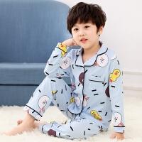 儿童睡衣男孩春秋季纯棉长袖冬季男童小孩家居服宝宝套装