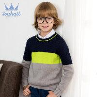 【3件3折 到手价:80.7元】水孩儿(SOUHAIT)秋冬新款男童时尚圆领线衫AMADK503