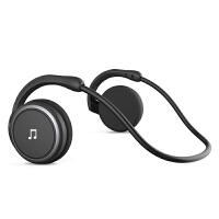 无线运动型蓝牙耳机 跑步头戴挂耳脑后式vivo苹果oppo手机通用不入耳插卡MP3双耳重低音男