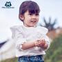 【超级品类日 3折价:60】迷你巴拉巴拉女童长袖衬衫秋季新款童装纯棉圆领衬衣上衣潮