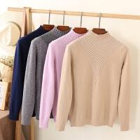 早秋韩版新款打底衫女装长袖秋冬装半高领套头毛衣短款针织衫