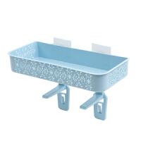 免打孔浴室置物架 壁挂卫生间用品吸壁式厕所马桶塑料收纳架抖音同款