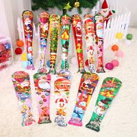 圣诞装饰品 圣诞儿童自动充气棒玩具圣诞老人雪人充气玩具礼物 颜色款式随机