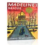 英文原版绘本 Madeline's Rescue 玛德琳的狗狗救星 1954凯迪克金奖 平装绘本