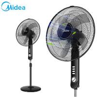 美的(Midea)电风扇落地扇家用 静音节能立式定时机械摇头 宿舍台式强力电扇 黑色 FS40-15F1