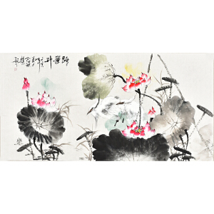 中国书画家协会会员 孔江林四尺整张花鸟画gh04506