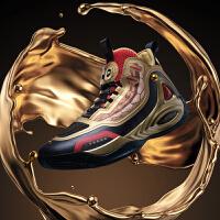 【券后预估价:209】黄金圣斗士联名|童虎禅戈361度圣衣鞋男鞋运动鞋篮球鞋2020秋冬