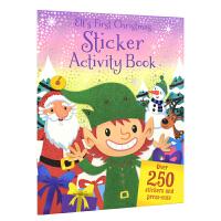 Elf's First Christmas 圣诞精灵陪你过圣诞节 幼儿手工活动书 超过250张贴纸 英文原版
