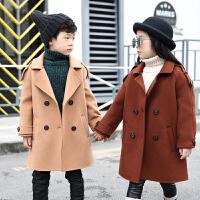 儿童羊毛呢大衣女童男童双面呢外套风衣
