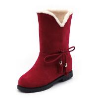 雪地靴女冬季加绒加厚棉鞋女短筒学生短靴保暖马丁靴韩版两穿中筒
