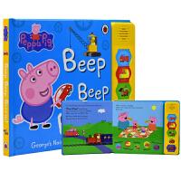 Peppa Pig Beep Beep Brrrm 粉红猪小妹 小猪佩奇英文绘本故事 汽车发声书 绘本纸板书 儿童英文