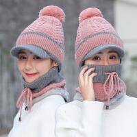 帽子女士冬天保暖毛线帽帽冬季骑车护耳甜美可爱针织帽