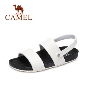 camel骆驼女鞋 夏季新款 休闲百搭低跟罗马凉鞋 平底凉鞋